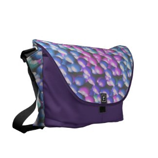 Pink and Blue Bubbles 2 Courier Bags