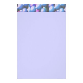 Pink and Blue Bubbles Custom Stationery