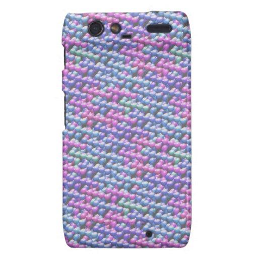 Pink and Blue Bubbles Motorola Droid RAZR Covers
