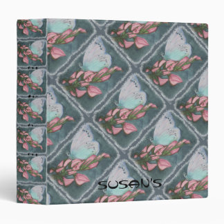 PINK AND BLUE BUTTERFLY BINDER
