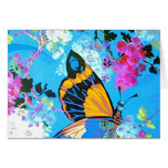 Pink and Blue Butterfly Card different text font