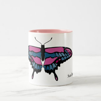 Pink and Blue Butterfly Mug