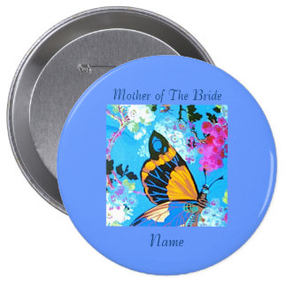 Pink and Blue Butterfly Pin add text