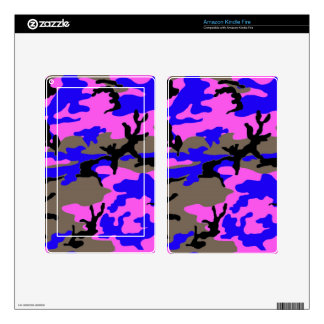 Pink and Blue Camouflage Kindle Fire Skin