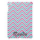 Pink and Blue Chevron iPad Mini Case
