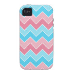 Pink and Blue Chevron iPhone 4/4S Case