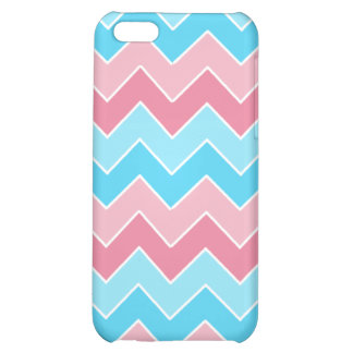 Pink and Blue Chevron iPhone 5C Covers