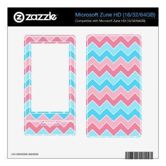 Pink and Blue Chevron Zune HD Skins