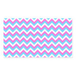 Pink and Blue Chevron Zig Zag Stripes. Double-Sided Standard Business Cards (Pack Of 100)