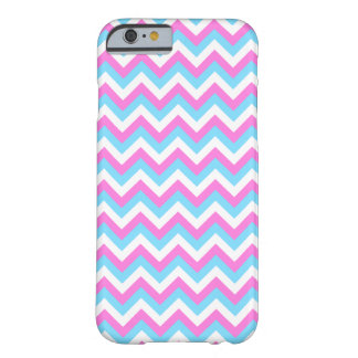 Pink and Blue Chevron Zig Zag Stripes. iPhone 6 Case