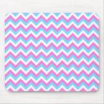 Pink and Blue Chevron Zig Zag Stripes. Mouse Pad