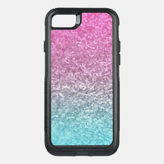 online store 11a30 b3429 Pink and Blue Circle Sparkle Shiny Shimmer Glitter OtterBox iPhone Case
