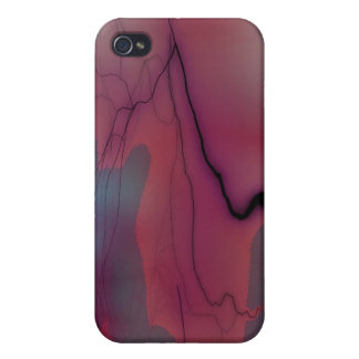 pink and blue cracked i iPhone 4/4S covers