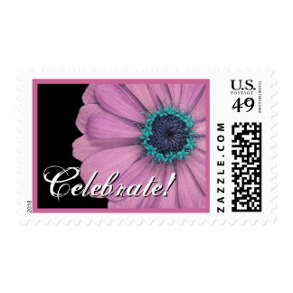 Pink and Blue Daisy - Celebrate! Postage