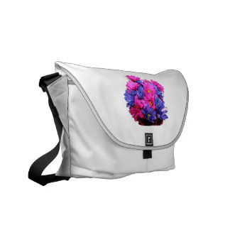 Pink and Blue Daisy Flower Bouquet Image Courier Bag