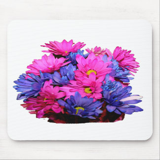 Pink and Blue Daisy Flower Bouquet Image Mouse Pads