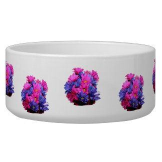 Pink and Blue Daisy Flower Bouquet Image Dog Food Bowl