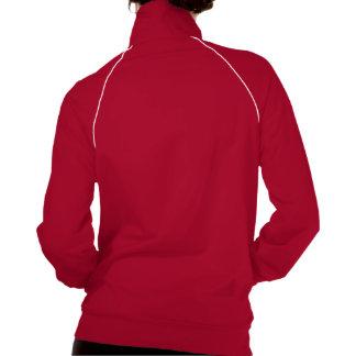 Pink and Blue Damask Elephant American Apparel Fleece Track Jacket