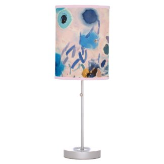pink and blue design table lamp (pink trim)