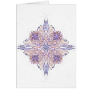 Pink and Blue Diamond Fractal Art Greeting Card