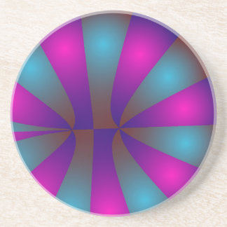 Pink and Blue Donuts Drink Coaster