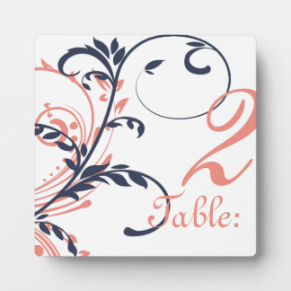 Pink and Blue Double Floral Table Number Display Plaques