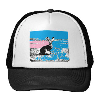 Pink and Blue Easter Hare Trucker Hat