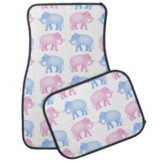 Pink and Blue Elephants Gender Reveal Car Mat