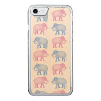 Pink and Blue Elephants Gender Reveal Carved iPhone 8/7 Case
