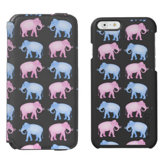 Pink and Blue Elephants Gender Reveal iPhone 6/6s Wallet Case