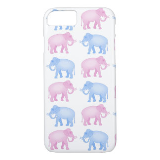 Pink and Blue Elephants Gender Reveal iPhone 8/7 Case