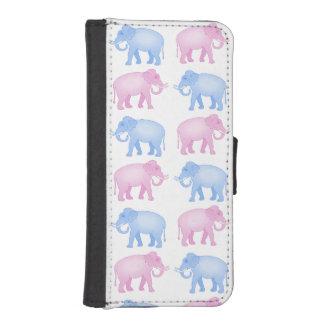 Pink and Blue Elephants Gender Reveal iPhone SE/5/5s Wallet Case
