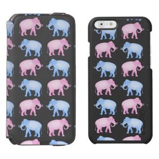 Pink and Blue Elephants Gender Reveal Incipio Watson™ iPhone 6 Wallet Case