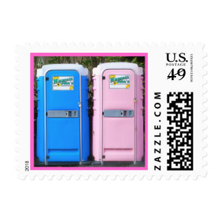 Pink and Blue Equality Postage