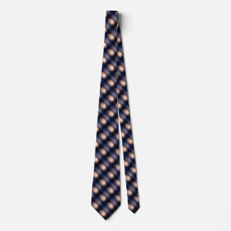 Pink and Blue Fantasy Sparkling Moon over water Tie
