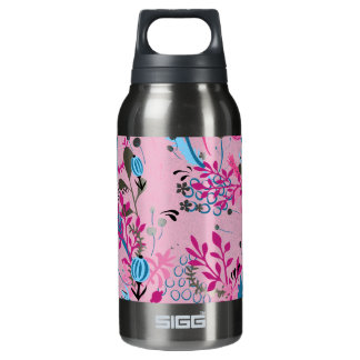 Pink and Blue Floral 10 Oz Insulated SIGG Thermos Water Bottle
