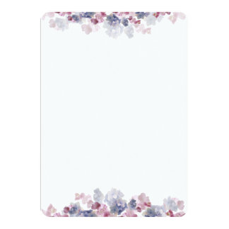 Blank Floral Invitations & Announcements | Zazzle