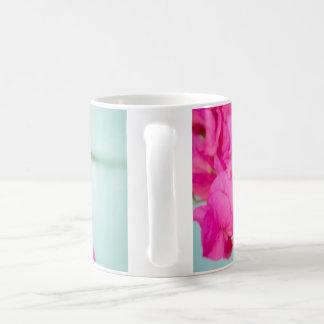 Pink and Blue Floral Mug