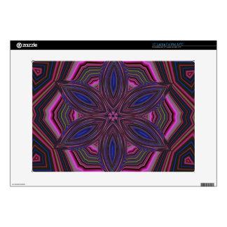 """Pink and Blue Flower Kaleidoscope Mandala 15"""" Laptop Skins"""