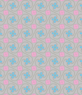 Pink And Blue Flower Tessellation Baby T Shirt