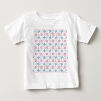 Pink and blue flower tessellation baby T-Shirt