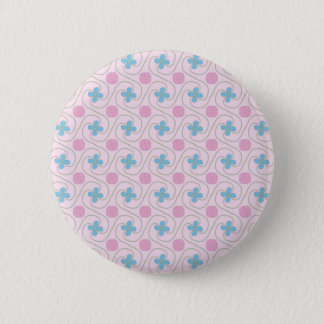 Pink and blue flower tessellation button