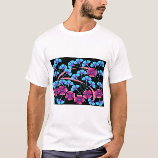 Pink and Blue Flowers T-Shirt
