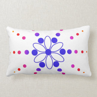 Pink and blue flowery beads pillow
