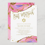 """Pink and Blue Geode with Gold 