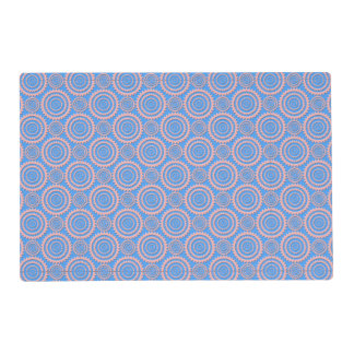 Pink and Blue Geometric Circles Pattern Placemat