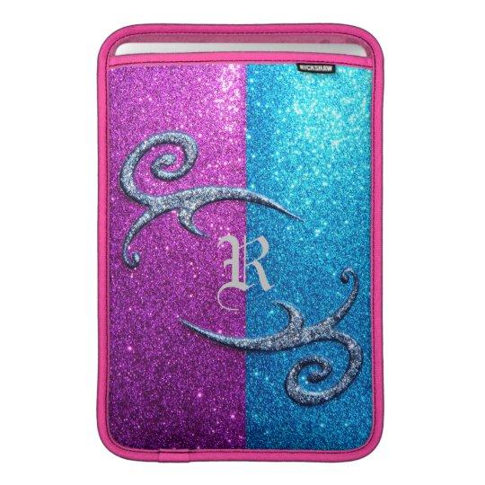 Pink and Blue Glitter & Swirls MacBook Air Sleeve