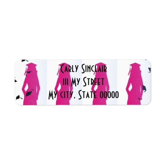 Pink and Blue Grad Silhouettes Label