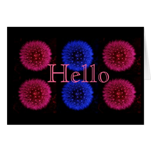 Pink and Blue Greeting Card
