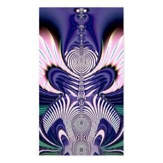 Pink and Blue Guardian Angel Fractal Business Card